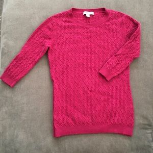 Pink 3/4 length sleeve Banana Republic sweater